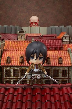 The Nendoroid Colossal Titan & Attack on Titan Playset is sold separately. Diorama is not included with Nendoroid Mikasa.