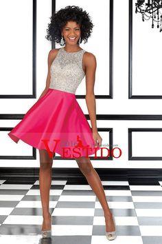2016 blusa moldeada Fiesta Vestidos sin espalda una línea de raso