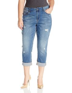 Melissa McCarthy Seven7 Women's Plus Size Jean Short * For more ...