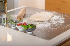 """Non un semplice piano cucina in acciaio inox Non una comune spianatoia Ma .... il Meraviglioso """"ANTONINO MAXI""""❤️ per i tuoi impasti e non solo; dall'aspetto minimalista e assolutamente igienico. Maxi, Camembert Cheese, Dairy, Food, Minimalist, Meals, Yemek, Eten"""
