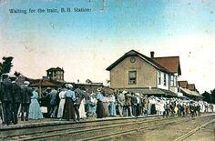 BRACEBRIDGE, Ontario  - Northern & Northwestern RR Station old pc-Churcher