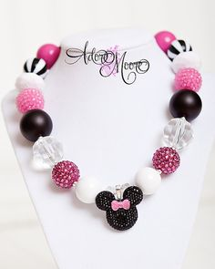 Mouse Ears Childrens Necklace Mickey Kids by AdoreMooreBoutique, $24.00