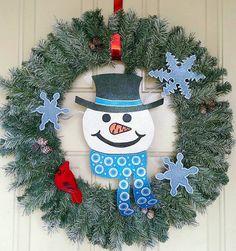 "I added ""Christmas Wreath Snowman Wreath Winter door by FlowerPowerShowers"" to an #inlinkz linkup!https://www.etsy.com/listing/213869898/christmas-wreath-snowman-wreath-winter?ref=shop_home_active_1"