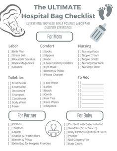 The Ultimate Hospital Bag Checklist | hotandsourblog.com