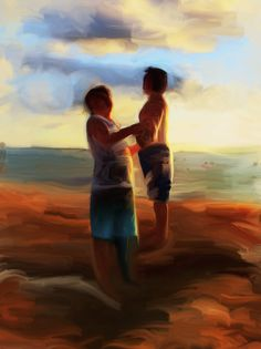 The Bathers; trackpad painting (copyright Diana Nicholette Jeon 2012)