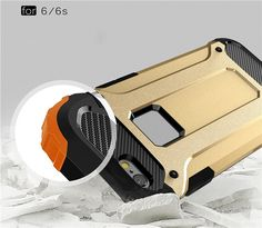 Hybrid Tough Rugged Armor Shockproof Rubber Kickstand Cover Case For iPhone 6 7 Gold Iphone 6 Plus, Apple Iphone 6s Plus, Buy Iphone 7, Iphone 6 Cases, Phone Case, Smartwatch, Apple Technology, 6s Plus Case, 7 Plus