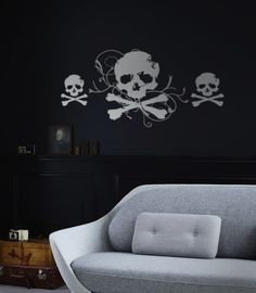 Jolly Roger And Minis Decal for the pirate lover in  your family. Wall decals from www.tradingphrases.com