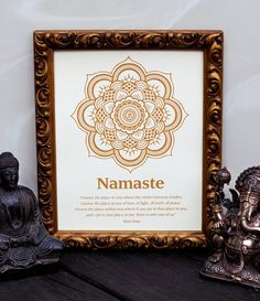 """Namaste 8x10 Print. Screen printed by hand - $15.00 """"I honor the place in you where the entire Universe resides...."""""""