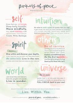 The Pockets of Peace Manifesto - a joyful collaboration between Pockets of Peace (pocketsofpeace.co...) and Emma Kate Creative (emmakatecreative.com)