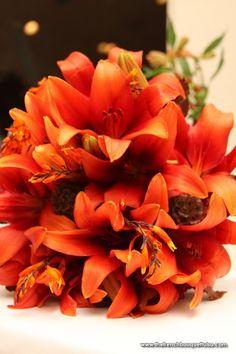 orange flowers(Master Bedroom) bedside vase