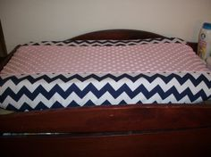 Changing Pad Cover      Navy White Chevron with by MiaBellaBella, $29.50. Perfect!!
