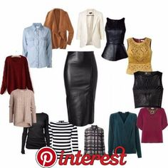 Leather Pencil Skirt Black Leather Pencil Skirt can go with many things different looks Mode Outfits, Fall Outfits, Casual Outfits, Fashion Outfits, Womens Fashion, Fashion Trends, Petite Fashion, Curvy Fashion, Fashion Bloggers