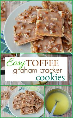 Cracker Cookies These easy toffee graham cracker squares just might just be your new favorite treat!These easy toffee graham cracker squares just might just be your new favorite treat! Graham Cracker Dessert, Graham Cracker Toffee, Cracker Candy, Graham Cracker Recipes, Graham Cracker Cookies, Recipes With Graham Crackers, Köstliche Desserts, Delicious Desserts, Dessert Recipes