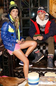 Chalet chic meets aprés ski: See Superdry. x British Fashion Council's #LCM #AW15 launch party here: bit.ly/17NslBU #SuperdryLCM #Highsociety