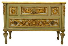 Louis XVI-Style  Gilded Commode