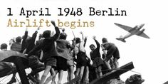 """Soviets begin blockade of Berlin in the first major crisis of the cold war. The United States and several other countries responded with the massive """"Berlin airlift,"""" supplying West Berlin with food and other provisions. Trauma, Indira Ghandi, Berlin Hauptstadt, German People, Ap World History, History Photos, History Online, History Timeline, Spiegel Online"""