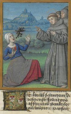 Bibliothèque nationale de France,  NAF 28640, f, 84r. Bonaventure, Vie et miracles de saint François dAssise. c. 1480