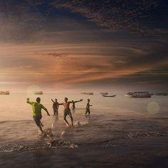 run away #photography #sea #run