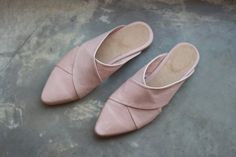 NEW! These wonderful Leather Slip Ons are uniquely designed in an X shape. Open back. Pink color. ***** FREE EXPRESS SHIPPING for new S/S 2016 collection*******   We use the finest leather, with a very comfortable shoe shape. This style has a 1 cm heel. We use a man-made durable sole, as leather soles are much more sensitive to tearing and wearing out.   ***************************  Made to order- I make each individual order according to your choice of size and color. It takes about 2 w...