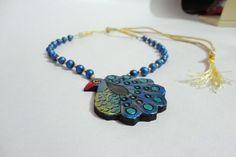 terracotta jewel handmade necklace pendant set