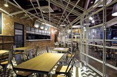 Интерьер ресторана Mallang-Mallang в Корее