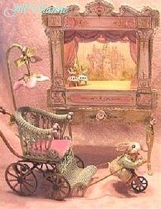 Jill Dianne Dollhouse Victorian Tabletop Ballet Theatre. $540.00, via Etsy.