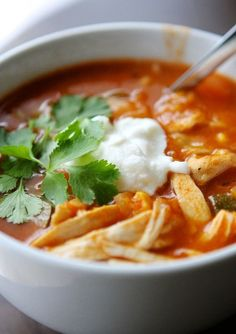 Indulge in Chicken Tortilla Soup on rainy days with this easy recipe.