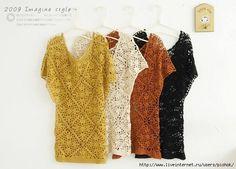 Blusa tejidas a crochet (a )