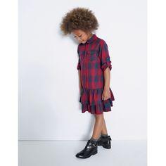 Vestido-camisa aos quadrados R Kids | La Redoute