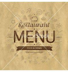Retro restaurant menu design vector by iadamson on VectorStock®