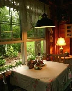 A fairy-tale cottage in the woods Fine Gardening # Cottage Living, Cozy Cottage, Cottage Homes, Cozy House, Cottage Style, Country Living, Tudor House, Cottage In The Woods, Cottage Interiors