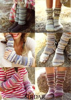 Sock, leg warmers and wrists warmers for beginners - knitted flat <3