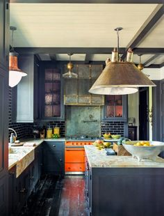 Lacanche Range in Steven Gambrel Kitchen, on the pages of Architectural Digest frenchranges.com