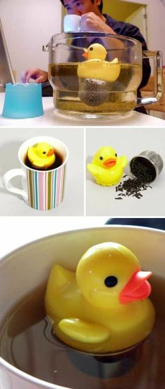 Rubber Duck Tea Infuser okay, I admit it. the duck infusers are adorable Tea Strainer, Tea Infuser, Caffeine Free Tea, Gadgets, My Cup Of Tea, Tea Accessories, Great Christmas Gifts, Rubber Duck, Afternoon Tea