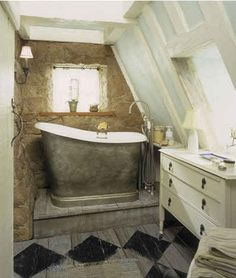 Iris's cottage bathroom-tub from the film The Holiday, a perfect little ensuite.