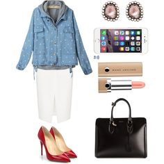 Businees Woman by lararebeca on Polyvore featuring moda, L'Agence, Christian Louboutin, Alexander McQueen and Marc Jacobs