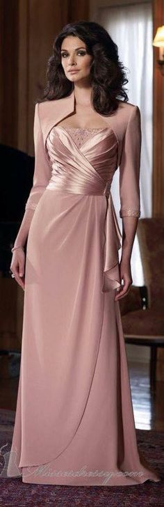 Tienda Online Elegant Sheath Spaghetti Straps Beads Floor Length Chiffon Mother of the Bride/ Groom Dress with Jacket Formal Evening Gowns Bridesmaid Dresses, Prom Dresses, Formal Dresses, Wedding Dresses, Bride Dresses, Bridesmaids, Cheap Dresses, Dresses 2013, Dress Prom