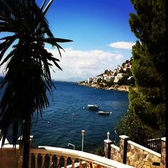 Love the view from my balcony in Roses, Spain, at Hotel Vistabella.