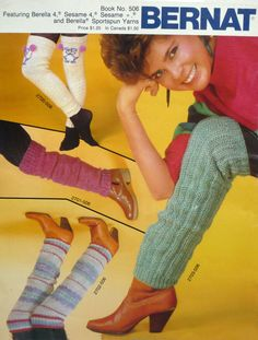 Leg Warmers Knitting Pattern Bernat Vintage by BeachTownVintage 1980s Punk Fashion, 80s Disco Fashion, 1980s Fashion Trends, Vintage Fashion, Fashion 2018, Vintage Style, Nostalgia, White T, Fashion Pictures