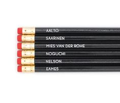 Mid-Century Designers Pencils