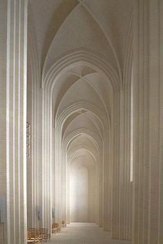 Elegance – Interior shot of Gruntvig's Kirke, Copenhagen, Denmark