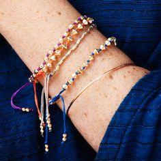 Silk Knotted Bead Bracelets