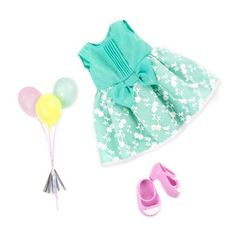Includes: 1 dress, 1 bouquet of balloons and 1 pair of shoes.