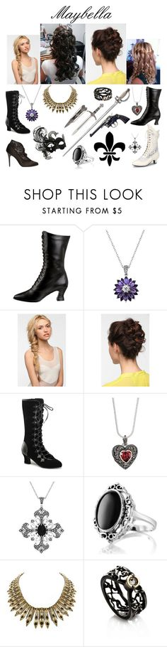 """Maybella"" by lilacmayn ❤ liked on Polyvore featuring WALL, Funtasma, R.H. Macy's & Co., Eva NYC, Genevieve & Grace, Giani, House of Harlow 1960 and Selda Okutan"