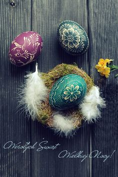 Pisanki - intricately decorated Easter eggs using wax, dye and incredible amounts of patience!