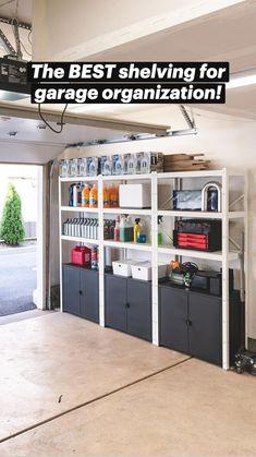 Garage Organisation, Diy Garage Storage, Home Organization Hacks, Small House Storage Ideas, Storage Room Ideas, Diy Storage Shelves, Organized Garage, Garage Storage Solutions, Organizing Ideas