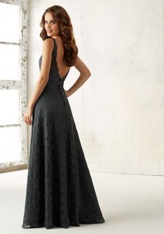 Morilee Bridesmaid 21516 Mori Lee Bridesmaid 21516 is a sophisticated dress perfect for any formal occasion. This full lace A-line dress has a deep V neckline and back. Mori Lee 21516 has a matching satin belt which accentuates the natural waist. Charcoal Bridesmaid Dresses, Mori Lee Bridesmaid Dresses, Lace Bridesmaid Dresses, Gold Bridesmaids, Bridesmaid Ideas, Mori Lee Bridal, Sophisticated Dress, A Line Gown, Bridal Boutique