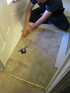 tips for installing peel & stick tile...I might need this one day, you never know!
