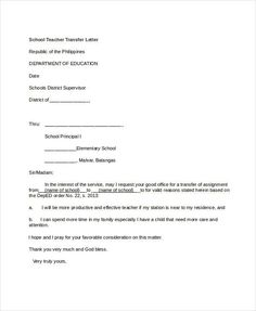 school transfer letter template 5 free word pdf format download free
