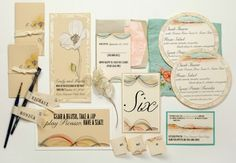 Handpainted Wedding Stationery by Momental Designs